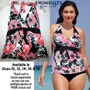 NWT in Package Shore Club Tie Front Tankini Top